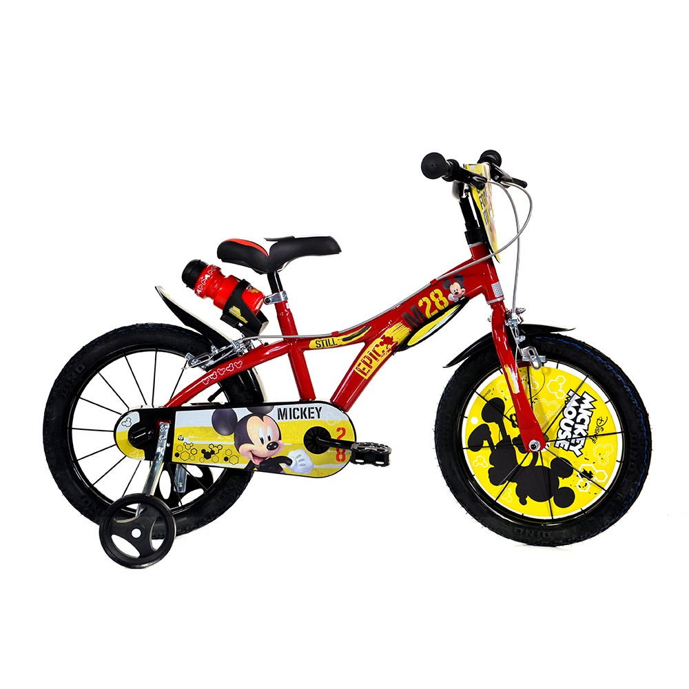 "Kids Bike Dino Mickey Mouse 14"""