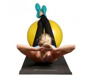 Pilates ball yellow 75cm + pump - Xplorer